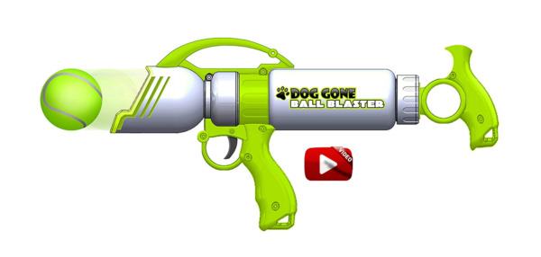 Dog Gone Tennis Ball Blaster Gun Shoot Toy Shooter Fetch Launcher Ball Included