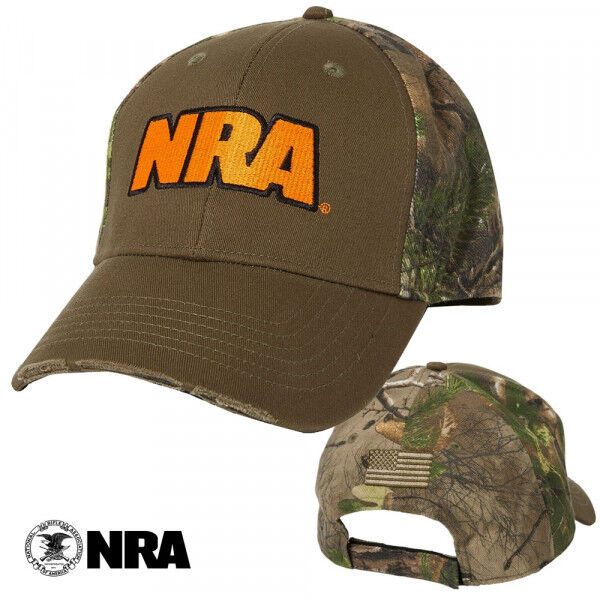 NRA Zeroed in Embroidered Camo Hat Cap Adjustable Fit Authentic Licensed NEW $6.99