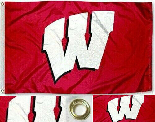 NEW Wisconsin Badgers Flag Large Sports Banner 3'X5'  Fans FREE SHIPPING!