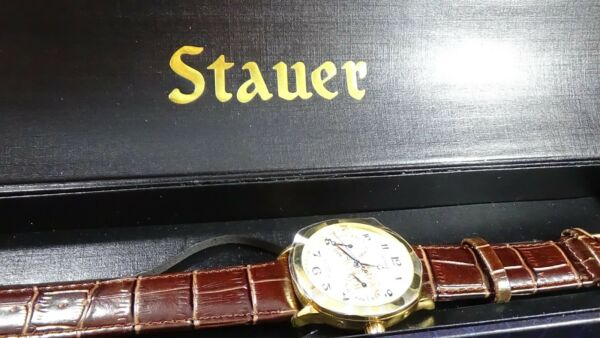 Mens NEW Double register GT Stauer automatic watch daymonth in orig box