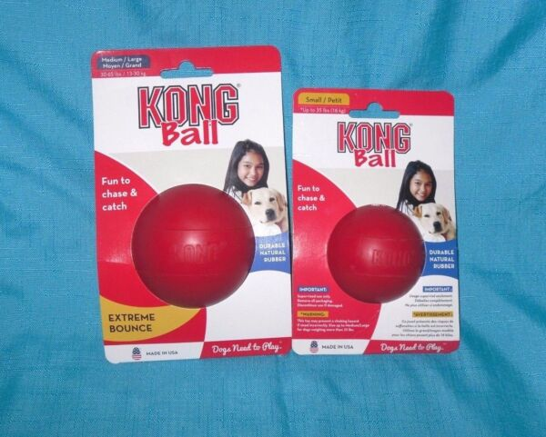 Kong Red Classic Ball rubber Toy Bounce Chew Fetch All sizes KB1 KB2 $13.99