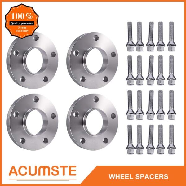 For BMW Hub Centric Wheel Spacers Staggered Kit 5x120 (2) 15mm & (2) 20mm +Bolts
