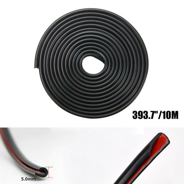 Edge Door Guard Trim Car Moulding Guards Auto Molding Protector 32ft Strip Black