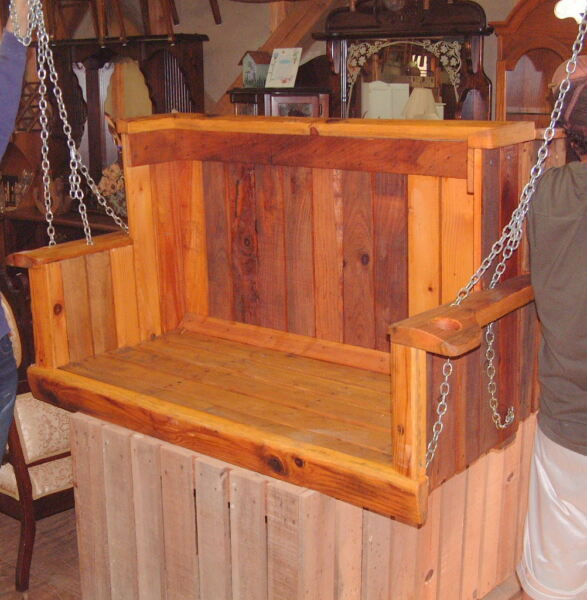 Porch Swings from Appalachian Mountains 4 Ft X 3 Ft Wood Apple Crate
