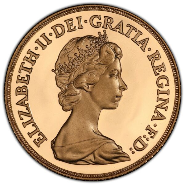 1982 UK Great Britain Gold Proof £2 Pounds Certified PCGS PR70DCAM Secure Holder