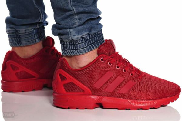 New ADIDAS Originals ZX Flux S32278 Casual Sneakers Mens triple red size 8