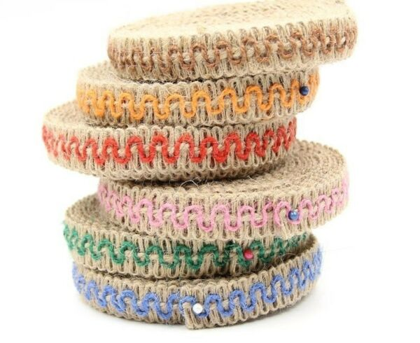 Lace Ribbon Vintage Design Burlap For Home Weddings Holiday Christmas Decoration