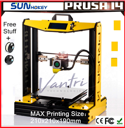 Sunhokey Prusa I4 3D Printer 70% DIY Desktop LCD Screen High Precision XY 210 mm