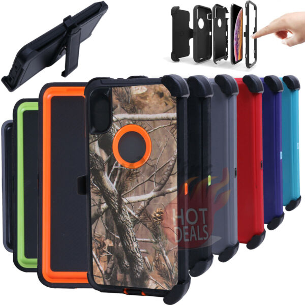 For iPhone XR XS MAX Defender Case Cover Clip Fits Otterbox
