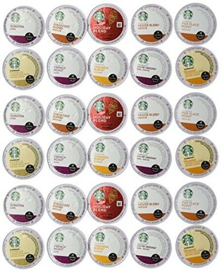 Starbucks Coffee Variety Pack 30 K cups 10 Different Flavors Sampler Pack