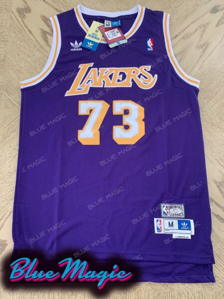 New Dennis Rodman Throwback Swingman Jersey #73 Los Angeles Lakers Mens S-XXL