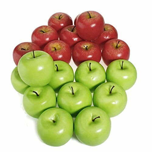612Pcs Artificial Apple Fake Fruit Food Kitchen Office Home Party Decor US