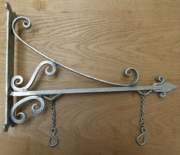 16quot; GALVANISED vintage rustic sign house name board hanging bracket