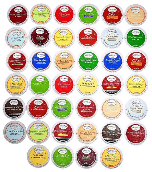 TWININGS K CUPS Tea Sampler Box - 40 COUNT - Variety Sampler Pack for Keurig K-C
