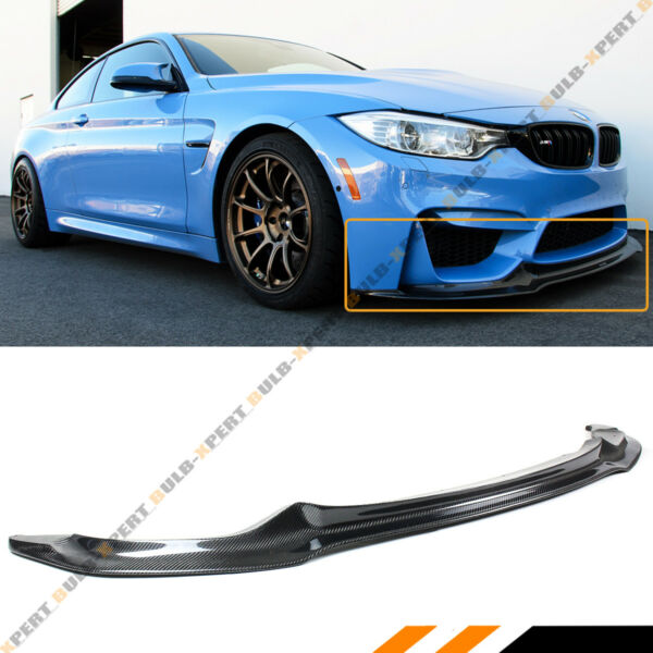 For 2015-18 BMW F80 M3 F82 F83 M4 V Style Carbon Fiber Front Bumper Lip Splitter