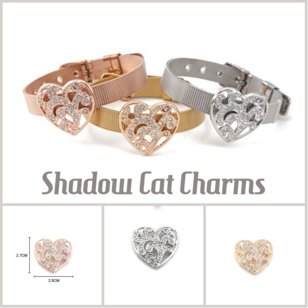 Keep Slide Charms Large Heart for 10mm Stainless Steel Mesh Bracelet $12.99