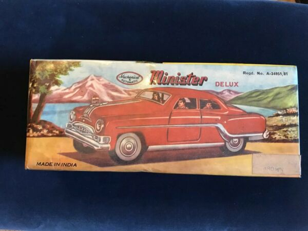 Minister Delux Mechanical amp; Automatic Toy Car Vintage New in The Box $194.99
