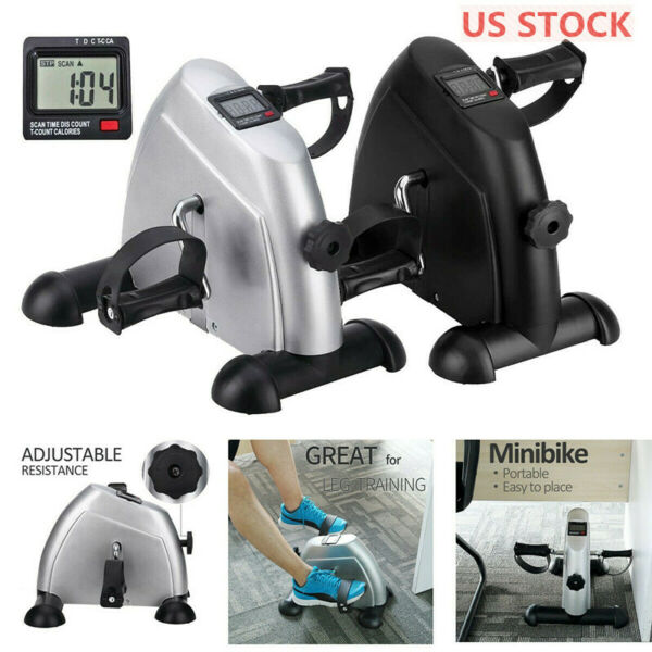 Under Desk Stationary Exercise Bike Portable Arm Leg Foot Pedal LCD Display $33.99