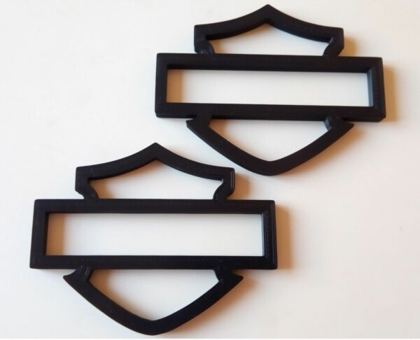 Harley Davidson Emblems, 4 pcs, Black, sized for Gas Tank!