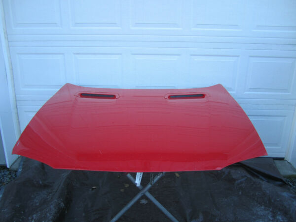 HOOD BRIGHT RED 93 94 95 96 97 CHEVY CAMARO Z28 FRONT PANEL ENGINE MOTOR COVER