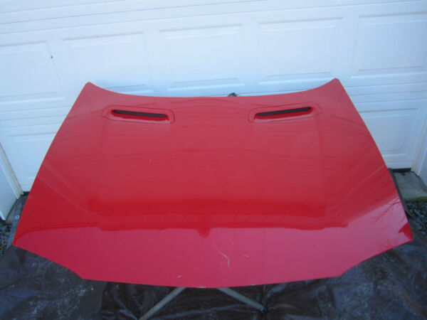 93 94 95 96 97 CHEVY CAMARO Z28 HOOD BRIGHT RED OEM OE USED FRONT PANEL CAR PART