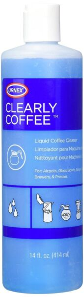 Urnex Clearly Coffee Pot Cleaner - 14 Ounce - Liquid Cleaner For Glass Bowls