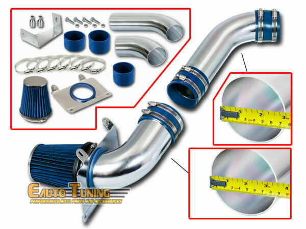 Cold Air Intake Kit + BLUE Filter For 87-88 Ford Mustang GT LX 5.0L V8