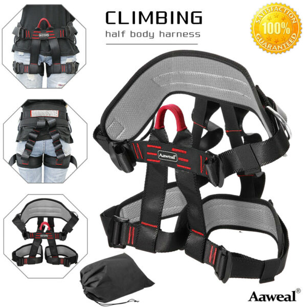 Safety Rock Tree Climbing Half Body Protection Rappelling Harness Equipment Gear