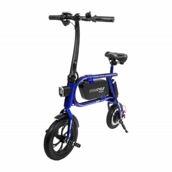 Refurbished Swagtron 200W Steel Frame Folding Electric Bicycle Swagcycle Envy