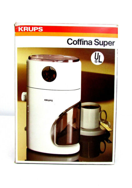 NOS Krups 223 Coffee Grinder Coffina Super Mr. Fusion Back to the Future Prop