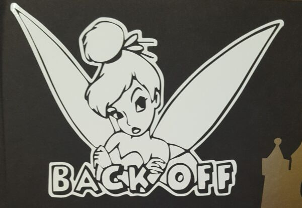 Tinker Bell Back Off Car Decal **Buy More Save 20 30%** $6.95