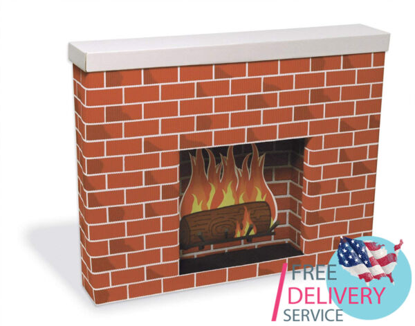 Cardboard Fireplace Christmas Decoration Great addition to your decor collection