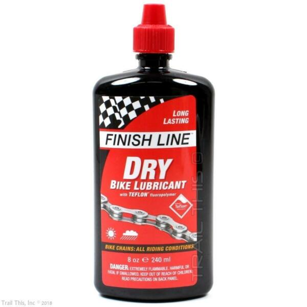 1 or 2-Pack Finish Line Dry 8oz Teflon Bike Chain Lube  Lubricant All Condition