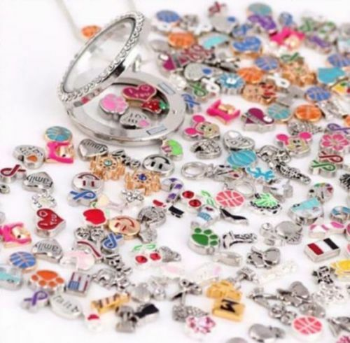 NEW! Floating Charms Lot 100 Living Memory Glass Locket Charms W FREE LOCKET
