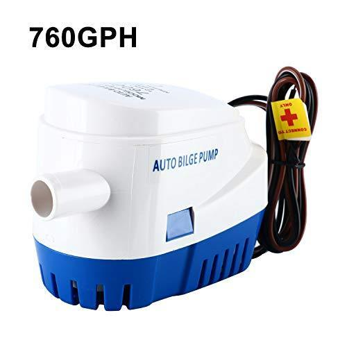 12V 760GPH Boat Automatic Submersible Bilge Water Pump Auto With Float Switch US