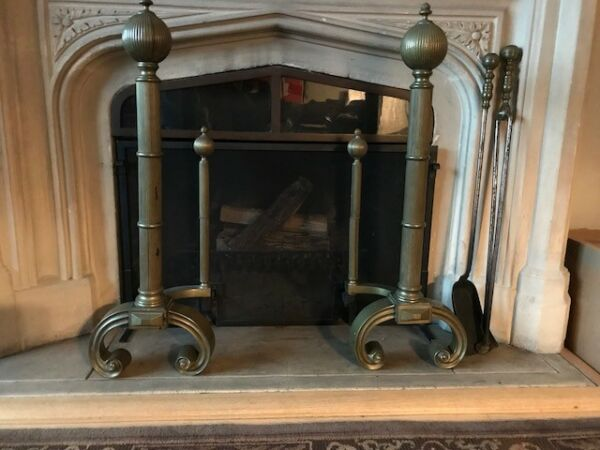 Andirons-pair Brass Oversized Double Post***Highly Valuable
