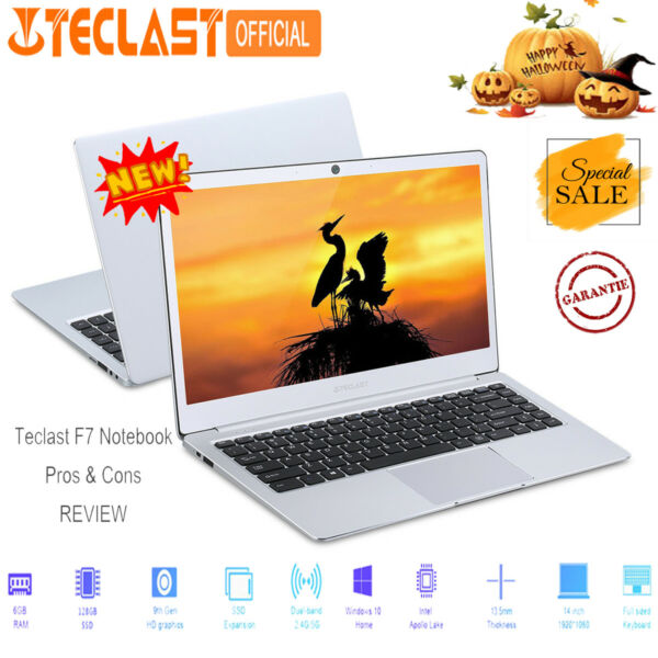 "14""Teclast F7 Laptop PC NETBOOK NOTEBOOK 6+128GB SSD 2WIFI Micro HDMI Windows10"