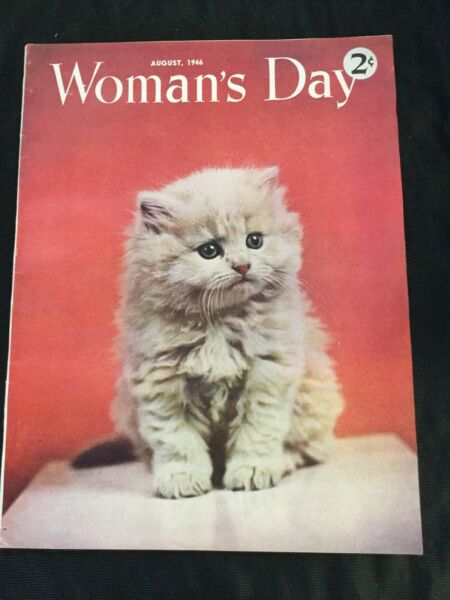 Woman's Day Magazine August 1946 Cost 2 Cents $15.00