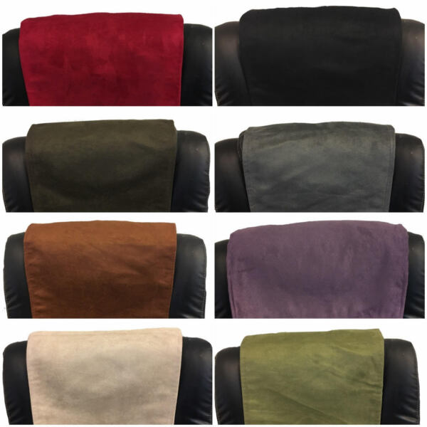 FURNITURE RECLINER HEADREST COUCH SUEDE LEATHER SOFA PROTECTOR 14 quot; x 30 quot; $24.95