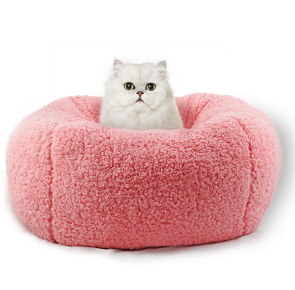 Pet Cat Small Dog Basket Soft Bed Met House Artificial wool S L Free Shipping $19.99