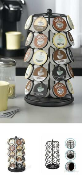 35 K Cups Keurig Pod Carousel Holder Coffee Stand Organizer Home Gift