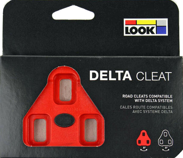 Genuine New 2019 LOOK DELTA Pedal Cleats 9° Float- Fit ALL DELTA Pedals: RED