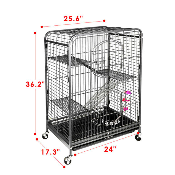 Ferret Cage with 2 Big Front Doors Rabbit Guinea Pig Chinchilla Rat House 37#x27;#x27;