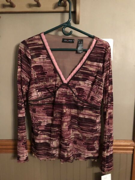 Womens Access  By Liz  Claiborne Long Sleeve Top $12.99