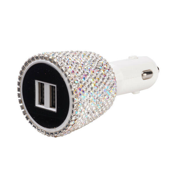 Bling LED 12V Dual USB Car Auto Charger for iPhone Samsung Android HTC LG HUAWEI $15.86