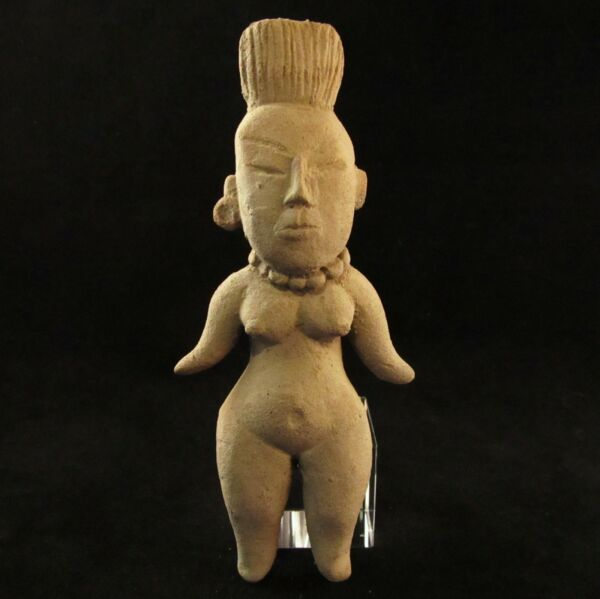 Ancient Pre-Columbian Olmec Clay Pottery Goddess Idol ~ Private Collection