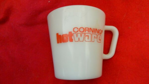 PYREX CORNING HOT WARE POSSIBLE TEST ISSUE GLASS COFFEE MUG FREE USA SHIPPING