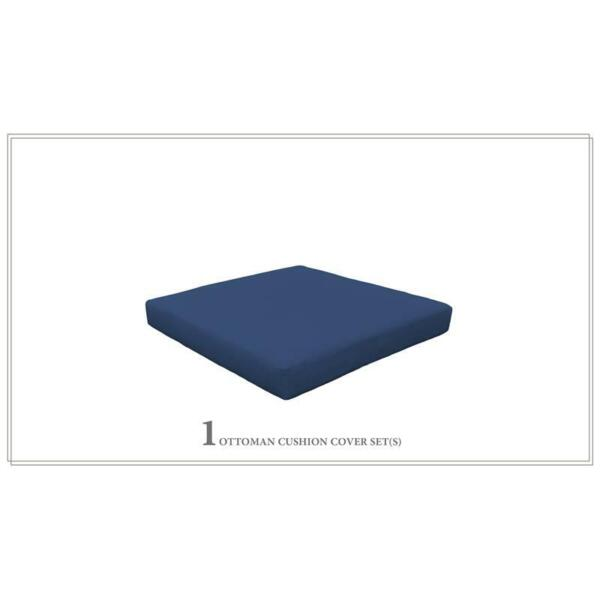 TK Classic 4quot; Water Resistant Outdoor Cushion for Ottoman in Navy $89.86