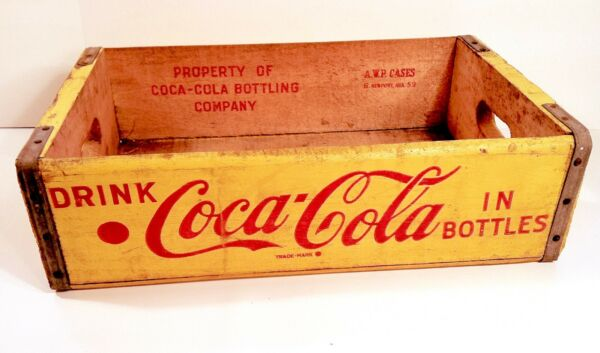 Vintage 1959 Coca Cola Wooden Sign Carrier Crate Wood Very NICE Crate