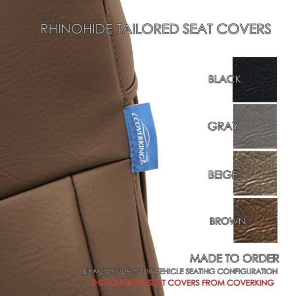 Rhinohide - PVC Heavy Duty Synthetic Leather Seat Covers for Toyota 4Runner